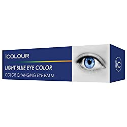 iCOLOUR Color Changing Eye Balm - Change Your Eye Color Naturally - 1 Month Supply - 4.3 g (Light Blue)