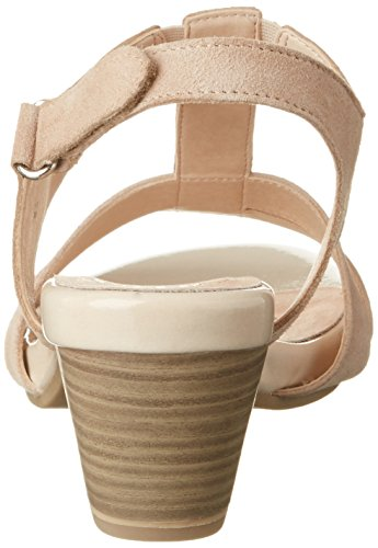 Caprice 28206, Sandalias con Cuña para Mujer Beige (Beige Suede)