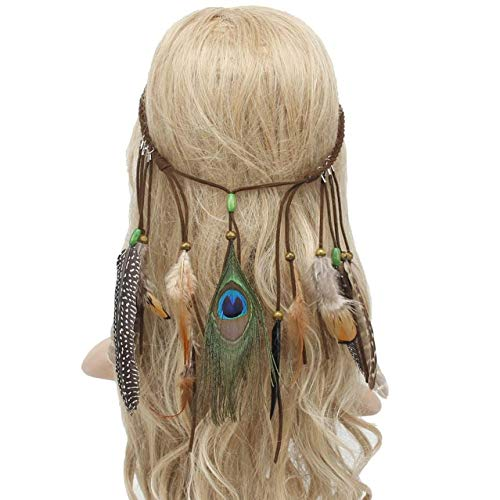 Amazon.com: Wall of Dragon Women Bohemian Headband Hippie Headdress Hair Accessories Multicolor Fashion Female Ladies Headwear: Kitchen & Dining