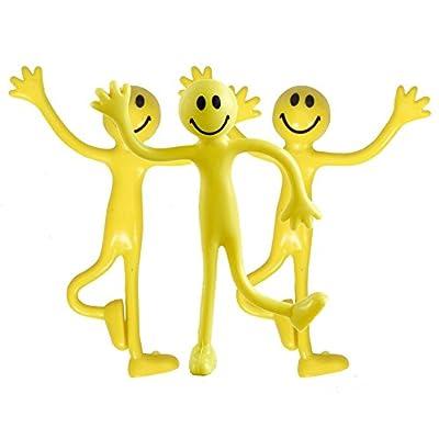 3 Hommes Smiley Jaunes à presser pour se débarasser de son stress/anxiété
