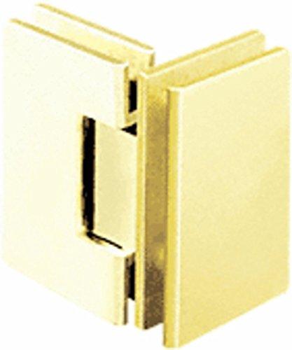 CRL Geneva 092 Series Satin Brass 90176; Glass-To-Glass Hinges
