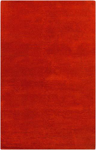 Venetian Red Wool - Surya Cambria CBR-8709 Shag Hand Woven 100% New Zealand Wool Venetian Red 5' x 8' Area Rug