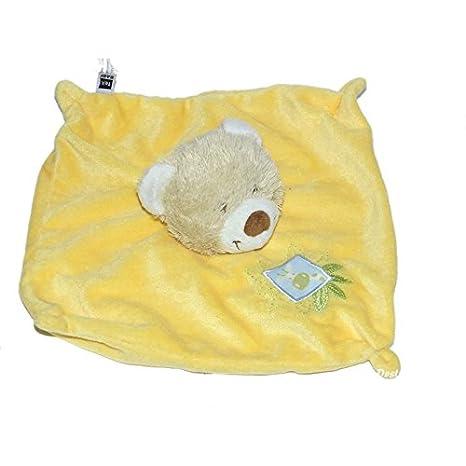 Doudou plat OURS jaune - Carrefour CMI Tex Baby - Girafe: Amazon.es: Bebé