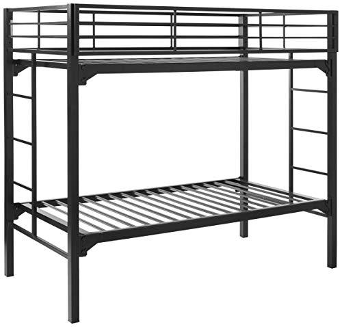 Blantex University Bed Bunk, Twin Over Twin, Black