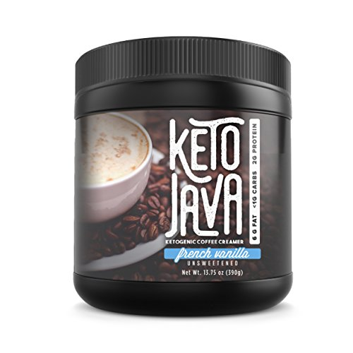 Keto Java Coffee Creamer | Great-Tasting MCT Oil Powder For Coffee, Tea, Shakes & Smoothies | Sugar-Free Ketogenic Energy Booster | Low-Carb Fat-Burning Creamer | Coconut Derived Oil