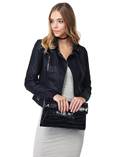 quilted leather jacket - 1