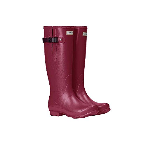 Hunter Women s Norris Field Side Adjustable Rain Boot Raspberry Burgundy 6 e1YuU8s7S