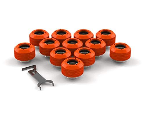 PrimoChill 1/2in. Rigid RevolverSX Series Fitting - 12 Pack - UV Orange