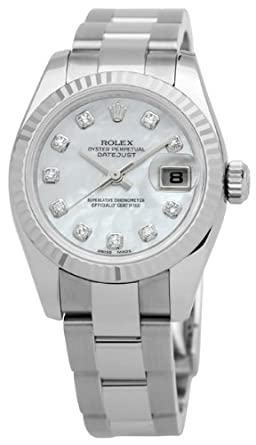 Amazon.com  Rolex Datejust Lady Diamond Mother of Pearl Automatic ... 25e7b4529b