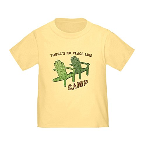 CafePress No Place Like Camp - Toddler T-Shirt Cute Toddler T-Shirt, 100% Cotton Daffodil Yellow