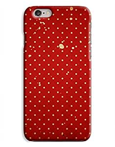 Grungy Red Polkadots iPhone 6 Plus Hard Case Cover