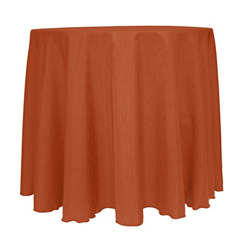 - Ultimate Textile (5 Pack) Reversible Shantung Satin - Majestic 72-Inch Round Tablecloth - for Weddings, Home Parties and Special Event use, Burnt Orange