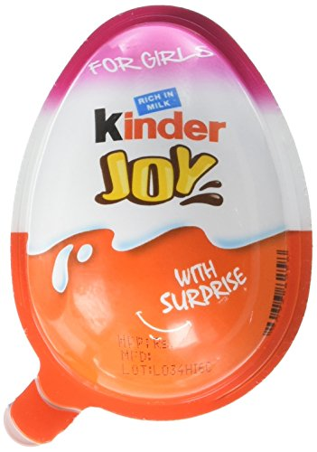 Chocolate Kinder Joy for Girls with Surprise Inside (6-Pack) -