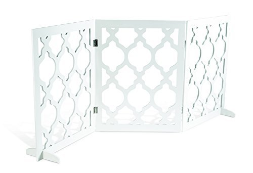 Pet Parade- Decorative Pet Gate- Indoor & Outdoor Use- Opens to 55.5'' L x 0.35'' W x 24'' H When Assembled- Includes Feet For Stability- Blends in With Home Decor