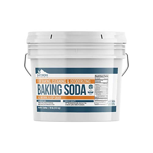 Baking Soda (1 gallon (10 lb)) by Earthborn Elements, All-Natural, USP Pharmaceutical Grade, for Cooking, Baking, Cleaning, Deodorizing, & More (Gmo Baking Non Soda)