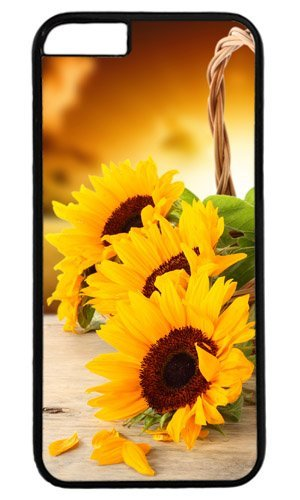 Basket with sunflowers Easter Thanksgiving Personlized Masterpiece Limited Design PC Black Case for iphone 6 by Cases & Mousepads