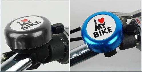 I Love My Bike-Mini Campana de Bicicleta Sonido Fuerte//Sonido Claro 2 Piezas Timbres de Ciclismo Aleaci/ón Aluminio Campanas Anillo de Bicicleta para Adultos Ni/ños 2 Piezas Timbre de Bicicleta