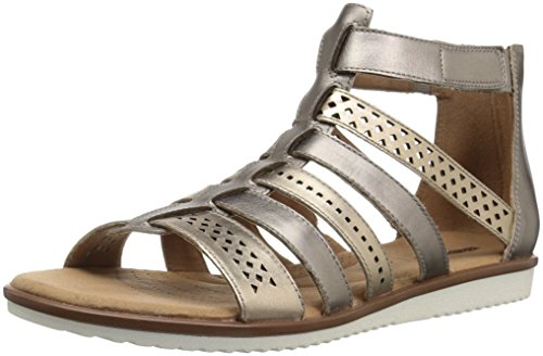 CLARKS Women's Kele Lotus Platform, Metallic/Multi Leather, 8 M US ()