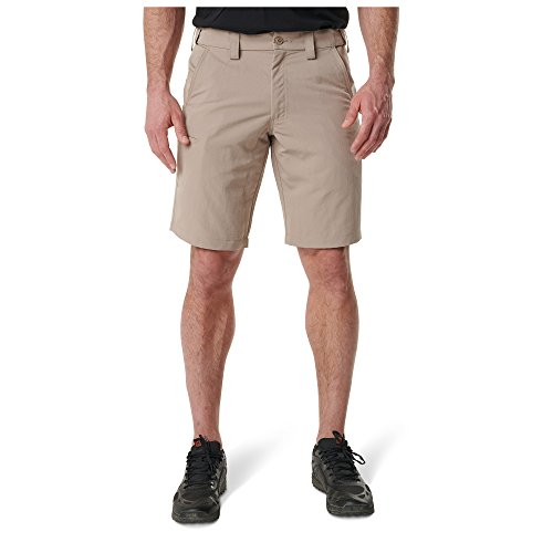 5.11 Tactical Men's Fast-Tac Urban Short, Tough Durable EDC Ripstop Water Resistant Casual Shorts, Cell Phone Pocket, Style 73342, Khaki, 36 ()