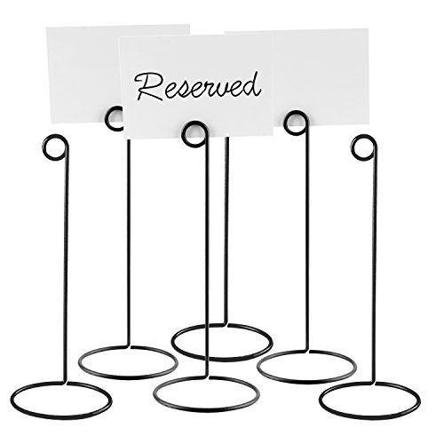 Ticket Set - Set of 6 Metal Wire 10-Inch Business Card & Place Card Holders