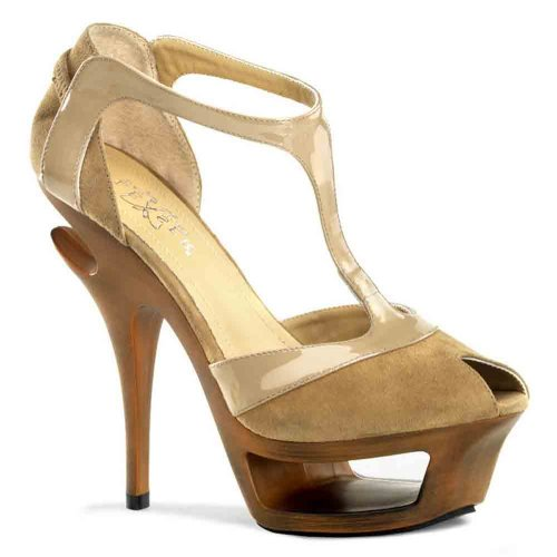 Pleaser Women's Deluxe-682/BHS-PLE T-Strap Sandal