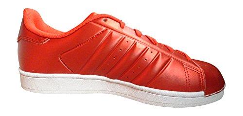 Adidas Originals Superstjerne Herre Trænere S31641 Sneakers Sko (os 7.5, Rød Hvid Bb4877)