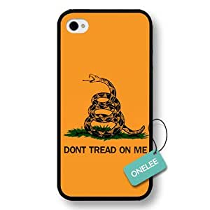 Onelee(TM) - Don't Tread On Me Snake-shaped Hard Plastic Case Cover for iPhone 4/4s - Black 5 by ruishername
