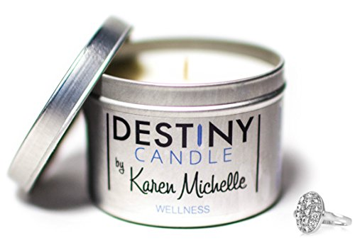Scented Massage Oil Candle - Wellness Blood Orange Aromatherapy | Destiny Candle by Karen Michelle | Beautiful Piece (Intimate Body Jewelry)