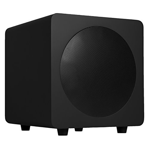 "Kanto sub8 Powered Subwoofer – 8"" Paper Cone Driver — Powerful Bass Extension – Matte Black by Kanto"