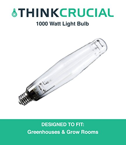 1000 Watt HPS Grow Bulb for Grow Lamps, Great for Indoor Gardening Fruits, Vegetables, Plants & More, Mimics Natural Sunlight, by Think Crucial