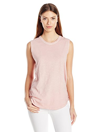 - Alternative Women's Washed Slub Inside Out Sleeveless Tee, Rose Quartz Pigment, L