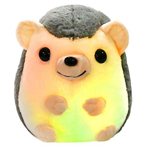 Bstaofy LED Hedgehog Stuffed Animal Glow Small Plush Toy Light up Nightlight...