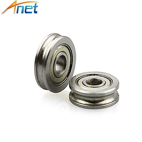 Zamtac 15PCS/lot U-Slot Guide Pulley Bearings Precision Stainless Steel Miniature Bearings U604ZZ with U Ditch 604UU