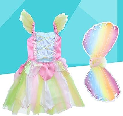 FENICAL Disfraz de Princesa de Hadas para niñas Conjunto Disfraz ...