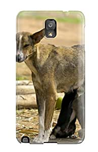 ALHcykE12444dryCw Tpu Case Skin Protector For Galaxy Note 3 Dog Feeding The Puppies With Nice Appearance