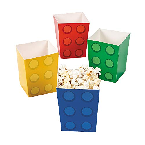 Fun Express Paper Color Brick Party Mini Popcorn Boxes (24 Count) -
