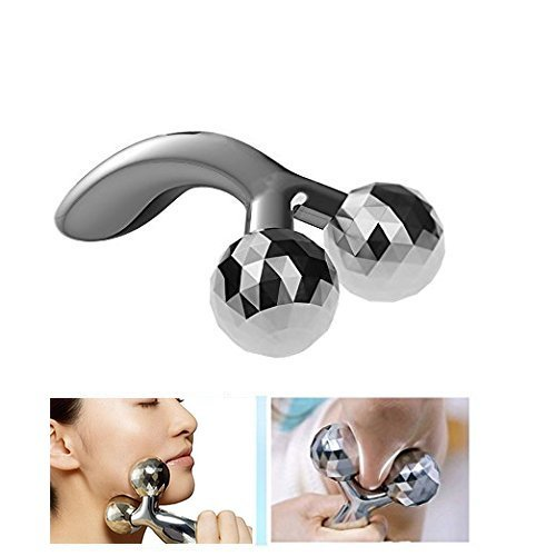 (3D Face Roller Ball Massager V-Line Firming Tool, Face Lifting Massager for Skin Tightening Body Shaping and Face Slimming Massager )