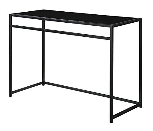 Designs2Go Classic Glass 3 Piece Console Table Set, Black, G