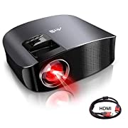 """#LightningDeal Movie Projector - Artlii 4000 Lux Full HD 1080P Support Projector, LED Projector with HiFi Stereo, Home Theater Projector w/ 200"""" Projection Size,2 HDMI USB VGA for Movies Sports Nintendo Switch PS4"""