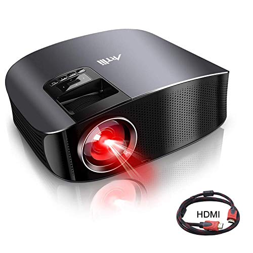 Movie Projector - Artlii 3800 Lux Full HD 1080P Support Projector, LED Projector with HiFi Stereo, Home Theater Projector w/ 200' Projection Size,2 HDMI USB VGA for Movies Sports Nintendo Switch PS4
