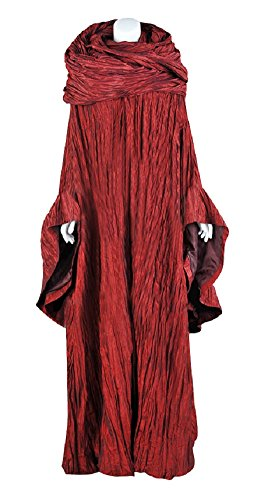 COSKING Melisandre Costume Women, Deluxe Halloween Red Woman Cosplay Outfit Dress Suits -