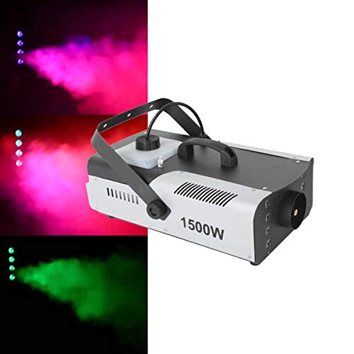Tengchang 1500W Fog Machine RGB 3in1 8 LED DMX Party Smoke DJ Stage Show Wireless Remote -