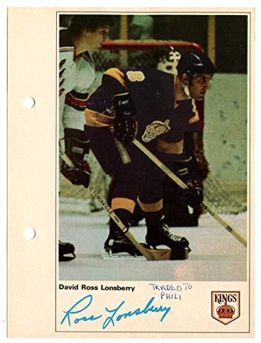 1971-72 Toronto Sun Ross Lonsberry Action Photo Los Angeles Kings