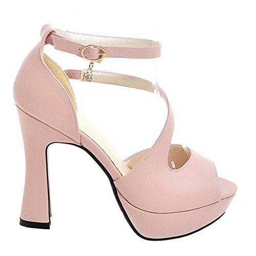 Tobillo De Sandalias Coolcept Mujer Pink Correa Heels Pxzq6F