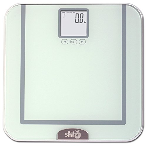 EatSmart Precision Tracker Digital Bathroom Scale w/ 400 lb. Capacity and EatSmart AccuTrack Software (Silver)
