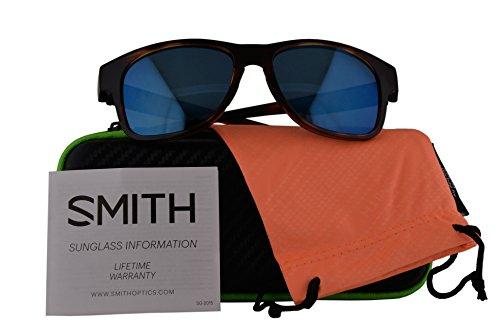 Smith Authentic Sunglasses Wayward Havana w/Polarized Blue Mirror Lens (54mm) Wayward/S by Smith Optics