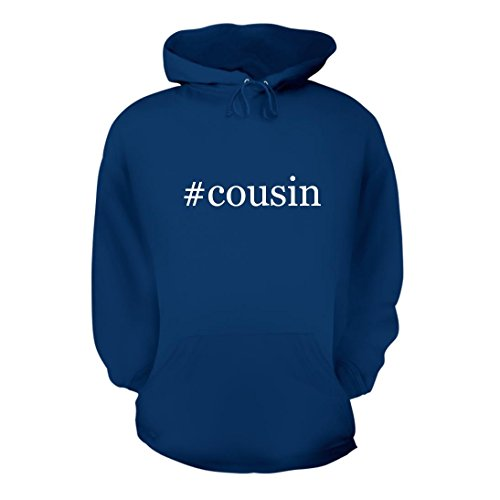 #cousin - A Nice Hashtag Men's Hoodie Hooded Sweatshirt, Blue, Large