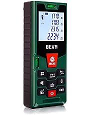Laser Entfernungsmesser Laser Messgerät Distanzmesser mit LCD Hintergrundbeleuchtung, Staub/Spritzwasserschutz IP54 von BEVA