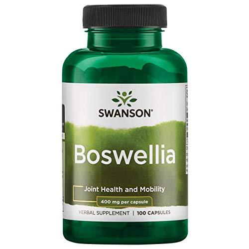 Swanson Boswellia Joint Flexibility Movement Support Ayurvedic Herb (boswellia serrata resin) 400 mg per Capsule 800 mg per Serving 100 Count