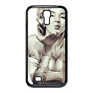 Unique DIY Design Cover Case with Hard Shell Protection for SamSung Galaxy S4 I9500 case with Skull Marilyn Monroe lxa#910019